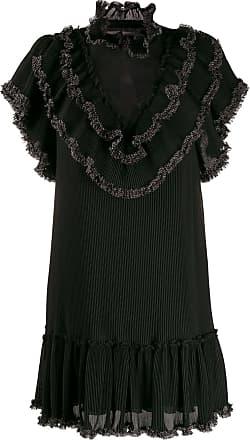 See By Chloé Vestido com acabamento de babados - Preto