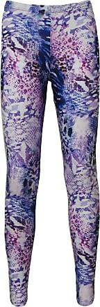 Insanity Mixed Exotic Animal Skins Alternative Printed Leggings (S/M) Purple
