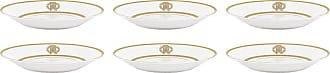 Roberto Cavalli Silk Gold Soup Plates - Set of 6