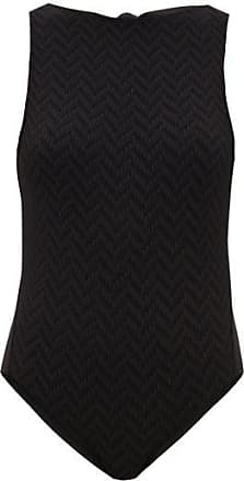 Eres Flanelle Open-back Zigzag-knitted Swimsuit - Womens - Black