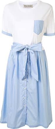 être cécile Vestido Lucinda com listras - Azul