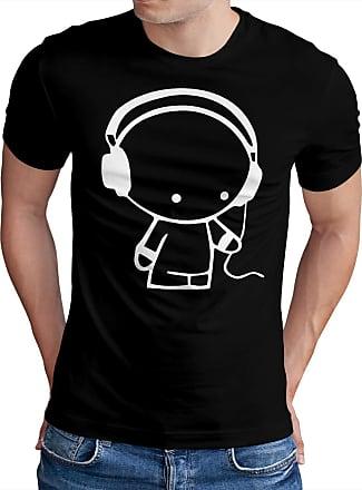 OM3 Headphone-Music-Beats-WS - T-Shirt Indie Wave Turntables Underground Elektro Sound Master DJ Emo, 3XL, Black
