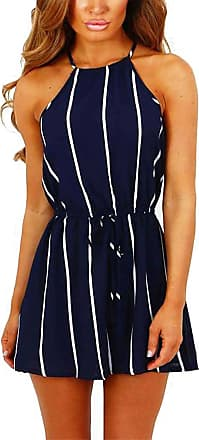 Yoins Women Playsuit Sexy Self-tie Square-Neck Random Floral Print Romper Playsuits Navy-2 UK 14-16