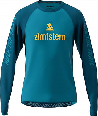 Zimtstern Pureflowz Shirt L/S Maglietta da ciclismo Uomo   blu/turchese
