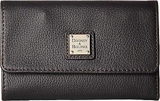 Dooney & Bourke Belvedere Flap Wallet (Black/BlackTrim) Wallet Handbags