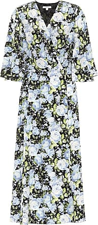 Les Rêveries Bedrucktes Wickelkleid aus Seide