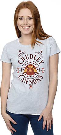 Harry Potter Womens Chudley Cannons Logo T-Shirt X-Large Sport Grey