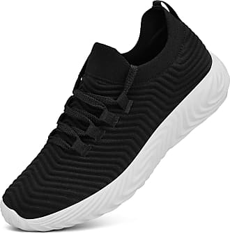 Zocavia Zocavia womens and mens trainers, breathable, lightweight sports shoes, running shoes, hiking shoes, outdoor shoes, 36EU-47EU Black Size: 8.5 UK