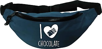 Flox Creative Recycled Polyester Blue Bumbag I Love Chocolate