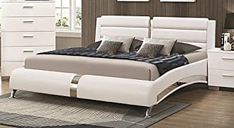 Coaster CO-300345Q Queen Bed, Glossy White