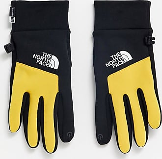 The North Face Etip gloves in black/yellow