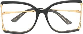 Gucci Occhiali squadrati con dettaglio a contrasto - Di colore nero