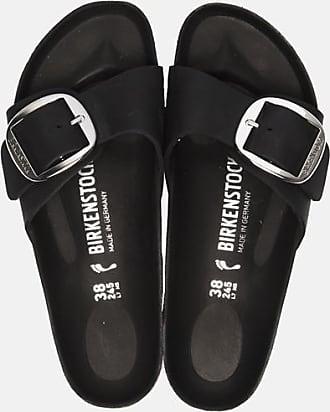 Birkenstock Madrid Big Buckle slippers zwart
