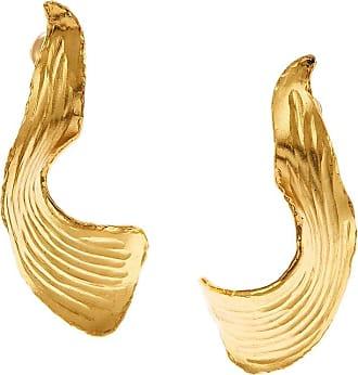 Oscar De La Renta Molten Leaf earrings - GOLD