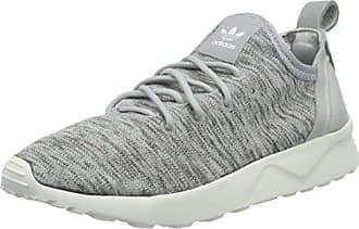 c845a5a30864c2 adidas Damen ZX Flux ADV Virtue Sock Laufschuhe Grau Clear Onix Core White
