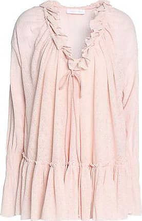 See By Chloé See By Chloé Woman Ruffle-trimmed Gauze Blouse Pastel Pink Size XS