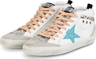 Golden Goose Hightop-Sneaker MID STAR - WEISS/ BLAU/ SILBER