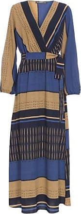 Morena Rosa Vestido Decote Transpassado Com Faixa Morena Rosa - Azul