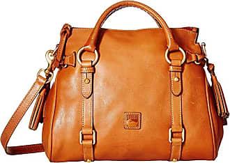 Dooney & Bourke Florentine Small Satchel (Natural/Natural Trim) Handbags