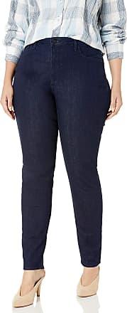 NYDJ Womens Plus Size Alina Skinny Jeans, Rinse, 22W