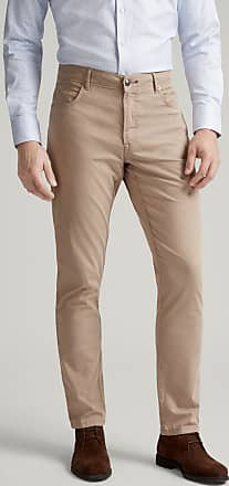 Hackett Mens Textured Five Pocket Cotton Trousers   Size 30R0   Oatmeal Beige