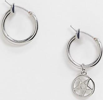 Weekday Leo star pendant mismatch earrings in silver
