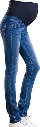 Zhuhaixmy Hzjundasi Women Maternity Soft Stretchy Pants Leggings Waistband Jeans Over The Bump, Dark Blue, 12