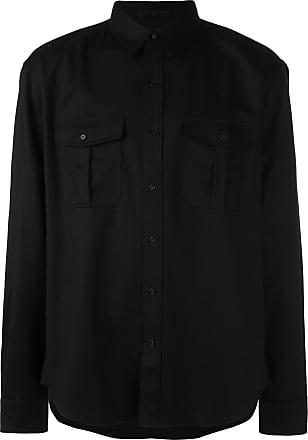 Wardrobe.NYC Camisa de flanela - Preto