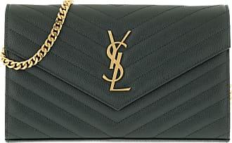 Saint Laurent Cross Body Bags - YSL Monogramme Chain Wallet Light Blue Dark Mint - green - Cross Body Bags for ladies