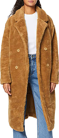 Urban Classics Womens Ladies Oversized Teddy Coat, Brown (Loam 02268), X-Small