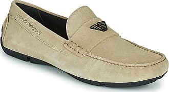 Emporio Armani X4B124-XF188 Loafers & Boat Shoes Men Beige - UK:10.5 - Loafers