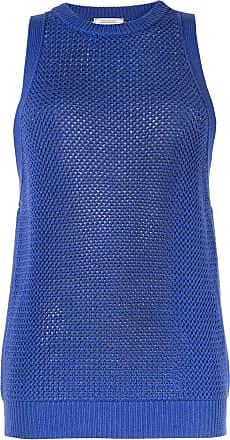 Nina Ricci Suéter tricô sem mangas - Azul