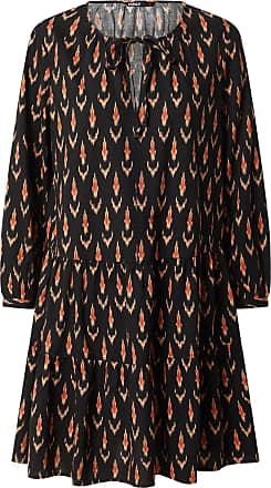 Only Robe-chemise SPELL noir / rouille / orange pastel