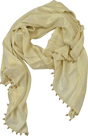 White Label JOHN LEWIS Womens Fine Weave LurShimmer Scarf Wrap with Dangle Bead Edges Size *