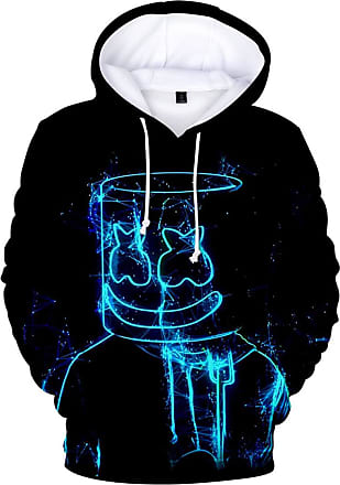 OLIPHEE Mens Fashion 3D Prints Hoodies DJ Inspired Graphic Pullover Jumpers Casual with Pockets Lines 2XL