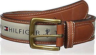 Tommy Hilfiger Mens Ribbon Inlay Belt (Regular Sizes & Big and Tall),Khaki,30