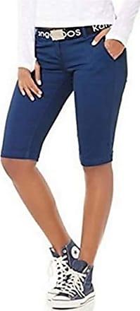 Kangaroos Womens Bermuda Shorts Shorts with belt - Blue, Women, 32