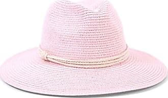 ále by Alessandra Womens Mariella Toyo Straw Fedora Sunhat Packable & Adjustable, Blush, One Size