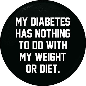 Flox Creative Small 25mm Pin Badge Diabetes Nothing Weight Diet