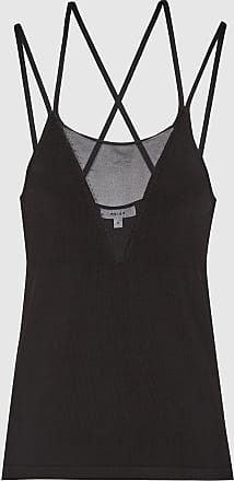 Reiss Darcy - Sheer Panel Cami in Black, Womens, Size XS
