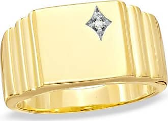 Zales Mens Diamond Accent Signet Ring in 10K Gold