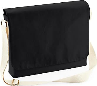 Westford Mill Unisex Fairtrade Cotton Canvas Messenger Bag (One Size) (Black)