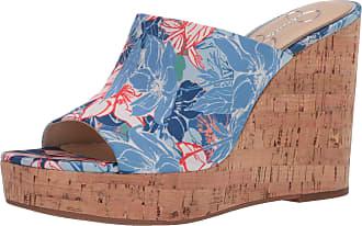 Jessica Simpson Womens Shantelle Wedge Sandal, Blue Combo, 6.5 UK
