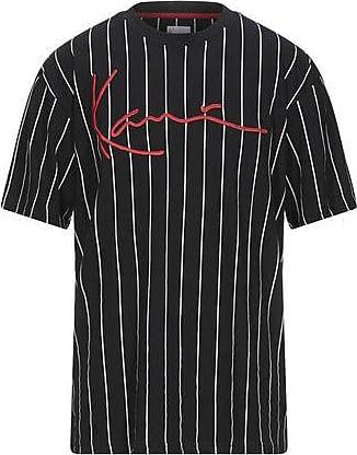 Karl Kani COLLEGE STRIPE TEE - T-shirts med print - white/red