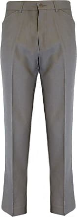 Farah Classic Mens Hopsack Trousers Light Taupe Size 38