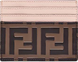 Fendi Porta-cartões FF - Marrom