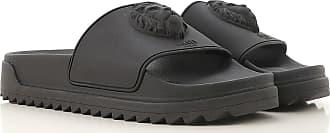 Versace Flip Flops for Men On Sale, Black, Rubber, 2017, 10.5