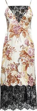 8c2b7f2d5461 Christopher Kane Christopher Kane Woman Lace-paneled Floral-print Silk-satin  Midi Slip