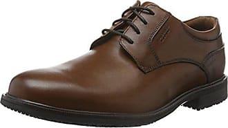 5f2aac706944b5 Rockport Essential Details II Plain Toe, Chaussures à Lacets Homme,  Marron-Brown (