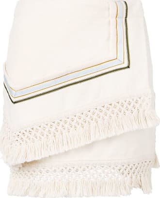 3.1 Phillip Lim Fringe asymetrical mini skirt - Neutrals